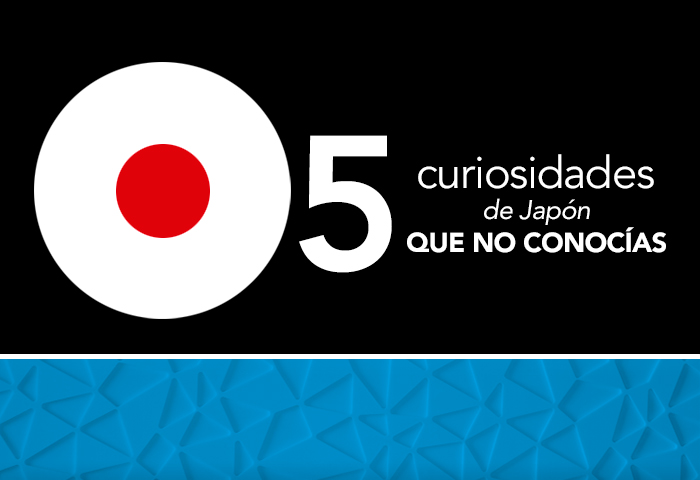 5 curiosides de Japón que probablemente no conocias